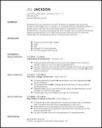 Template For A Professional Resume Free Professional Dancer Resume Template Resumenow