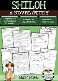 shiloh novel study unit comprehension vocabulary activities