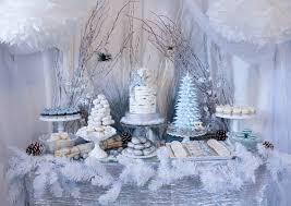 Christmas Dessert Table Decoration Ideas by Winter Woodland Dessert Table
