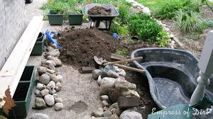 What Type Of Wood For Raised Garden - diy build a garden pond in a raised bed empress of dirt