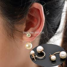 earring styles pearl stud earrings black fashion earring vintage brief