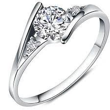 girls rings silver images Women 39 s charms white cubic zirconia diamond love jpg