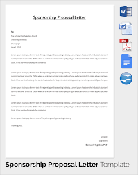 sample sponsorship proposal template 15 documents in pdf word