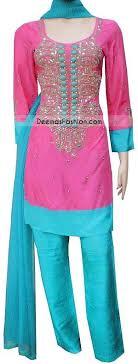 pink colour combination dresses pakistani casual wear shocking pink ferozi outfit latest designer