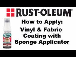 Vinyl Upholstery Spray Paint How To Video How To Paint Vinyl And Fabric With Rust Oleum Youtube