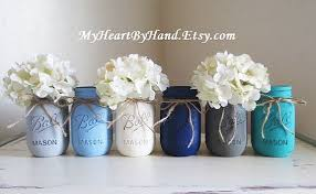 jar baby shower baby shower jar centerpieces nautical theme painted