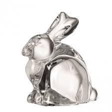 leonardo glass rabbit nido ornaments assorted colours standing