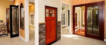 door dark brown trustile doors with silver handle matched with