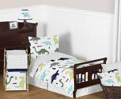 Blue And Green Bedroom The 25 Best Dinosaur Toddler Bedding Ideas On Pinterest