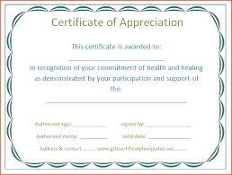 6 free certificate of appreciation templates bookletemplate org