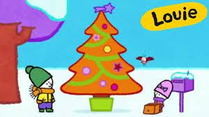 christmas cartoon louie draw me a christmas tree learn to draw