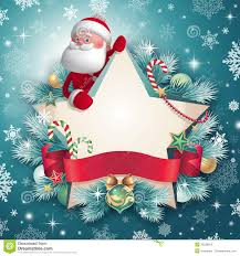 3d santa claus character holding card stock photography