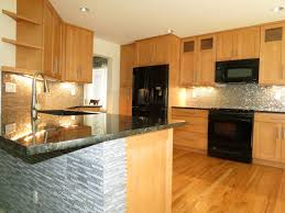 Oak Cabinets Kitchen Ideas Small Kitchen Design Kitchens Light Wood Cabinets Awesome Black