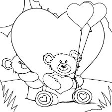 teddy bears love hide behind him i love you coloring pages batch