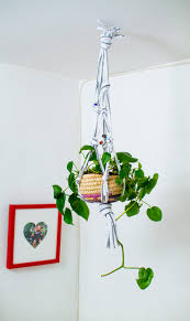 make a hanging planter from an old t shirt u2013 a beautiful mess