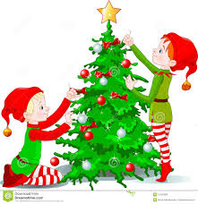 tree elves lights decoration