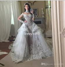 silver wedding dress discount luxury wedding dresses with detachable skirt high