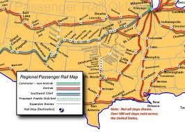 Amtrak Service Map by Send The Flyer North Passenger Rail Kansas 21st Century
