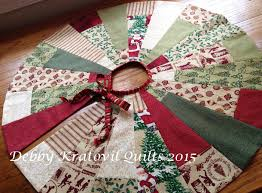 sew in with fabric in july tree skirt