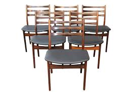 Leather Mid Century Chair Set Of 6 Rosewood Mid Century Chairs By Moller Mid Century