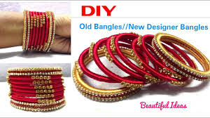 diy how to make old bangles turn in to new silk thread designer