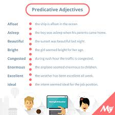 list of predicative adjectives myenglishteacher eu forum