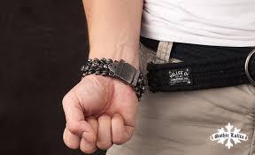 steel cuff bracelet images Wide skull skeleton leather bracelet for men stainless steel cuff jpg