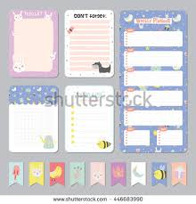 cute calendar daily weekly planner template stock vector 446683990