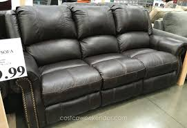 2 Seat Leather Reclining Sofa by Reclining Leather Sofa Costco Centerfieldbar Com