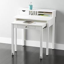 roll out computer desk white solid wood roll out desk container store white wood and desks