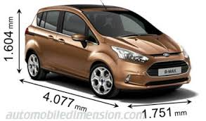 ford focus c max boot space dimensions of ford cars showing length width and height