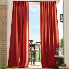 martha stewart living cream outdoor back tab curtain 1624454 the