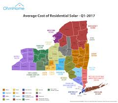 Map Of Albany New York by Cost Of Solar Panels In New York A New York Solar Guide By Ohmhome