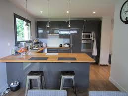 cuisine bois et gris photo cuisine grise et bois