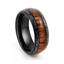 mens tungsten wedding bands tungsten wedding band tungsten carbide tungsten ring 8mm black