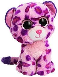amazon ty beanie boo plush pink leopard glamour baby