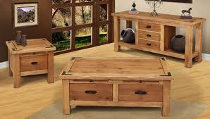 rustic coffee table sets