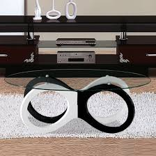 Black And White Coffee Table Modern Gloss Black Pebble Coffee Table Black Gloss Furniture