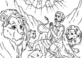 daniel praying in daniel and the lions den coloring page netart