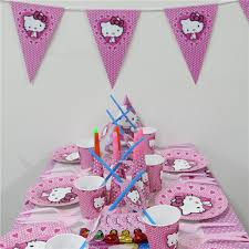 themed party supplies wholesale 1pack 45pcs hello kids 1st birthday theme