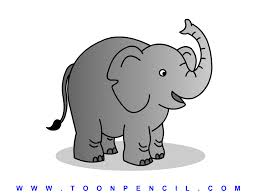 simple elephant drawing for kids