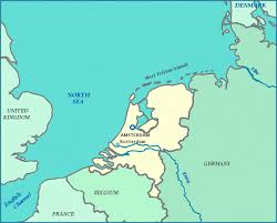 netherland map europe netherlands map shows cities rivers the zuiderzee new zone