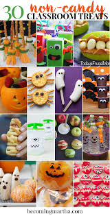 Vegetarian Halloween Appetizers 30 Non Candy Classroom Halloween Treats Becoming Martha