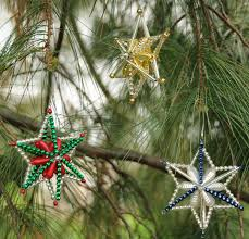 Easy Beaded Christmas Ornaments - dabbled tutorial e2 80 93 make resin star christmas tree ornaments
