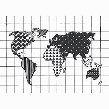 Map Of The World Black And White by Black And White World Map Print By Of Life U0026 Lemons