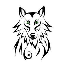 black tribal wolf design