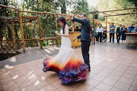 tie dye wedding dress dip dye wedding dress trend makes you stand out during your