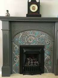 Paint Tile Fireplace by 25 Best Mosaic Fireplace Ideas On Pinterest White Fireplace