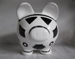 personalized silver piggy bank piggy bank personalized piggy bank handpainted r2d2 piggy