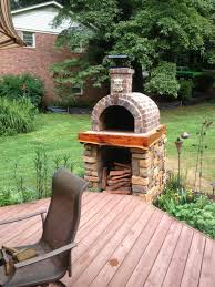 outdoor minimalist home backyard outdoor brick oven small brick